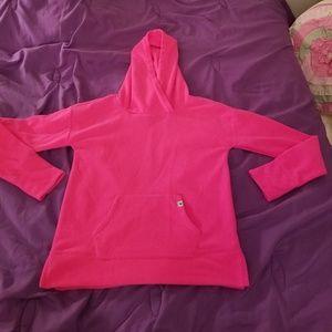 Justice size 10 NWOT Fleece pullover hoodie Pink